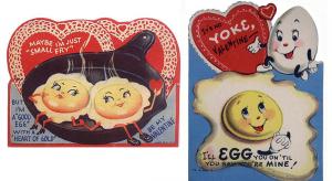 Vintage Valentine Card - Breakfast in Bed
