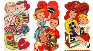 Vintage Valentine Card for Music Lovers