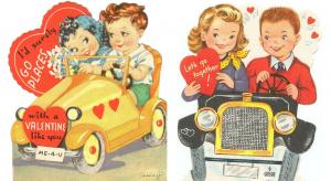 Vintage Valentine Card - Romantic Getaway