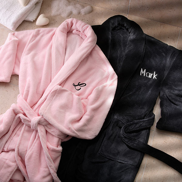 His & Hers Embroidered Luxury Fleece Robes