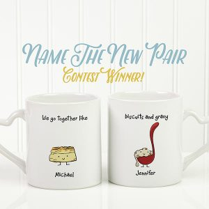 We Go Together Like Biscuits & Gravy Mug Set