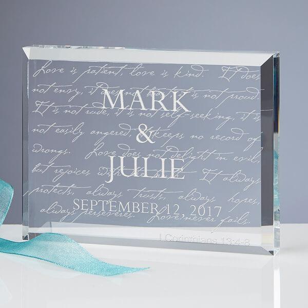 Engraved Keepsake Wedding Gift