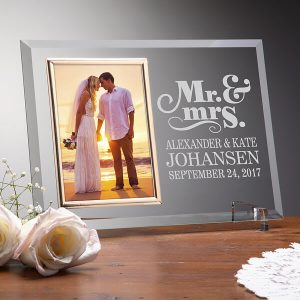 Engrave Picture Frame Wedding Gift