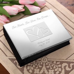 Engraved Photo Album Wedding Gift