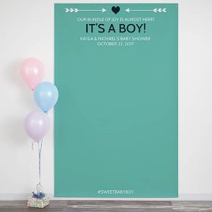 Baby Shower Personalized Photo Backdrop