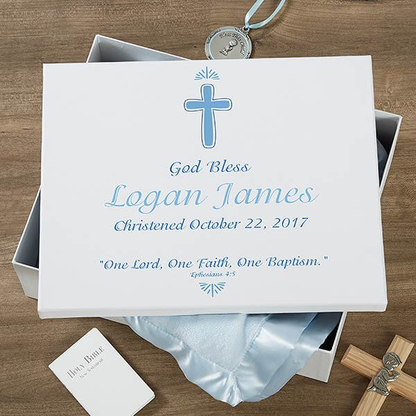 Baptism Day Personalized Keepsake Memory Box