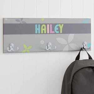 Trendy Girl Personalized Coat Rack