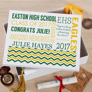 School Memories Personalized Keepsake Box
