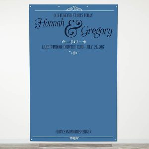 Elegant Scroll Personalized Photo Backdrop
