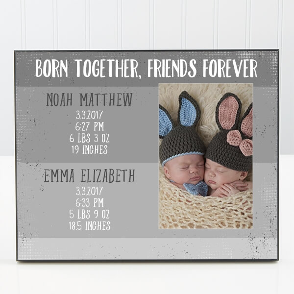 Personalized baby picture frame