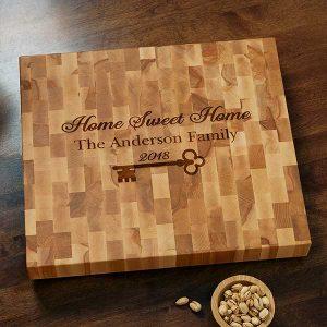 Butcher Block Cutting Board - Home Sweet Home