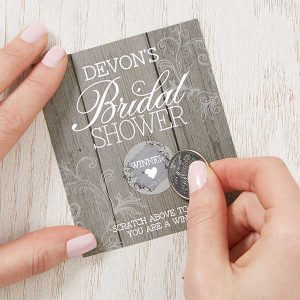 Rustic Bridal Shower Scratch Off Game