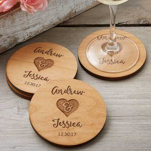Rustic Coasters Party Favors
