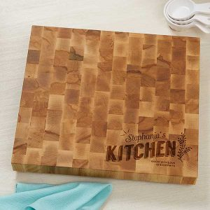 Custom Butcher Block Cutting Board for Mom