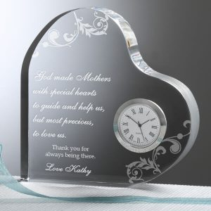 Dear Mom Personalized Heart Clock