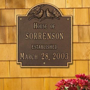 Date Established Family Personalized Aluminum House Plaque