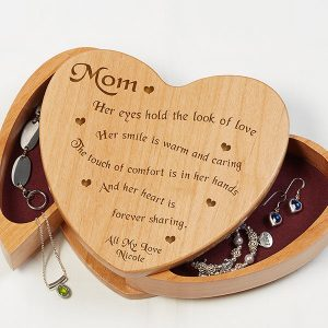 Personalized Heart Jewelry Box for Mom