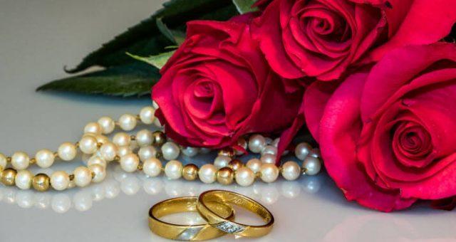 WEDDING ANNIVERSARY COLORS, FLOWERS & JEWELRY