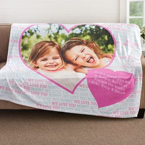 Love You This Much Personalized Fleece Blanket