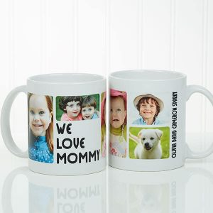 5 Photos Loving Message Personalized Coffee Mug