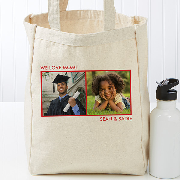 Picture Perfect Personalized Petite Canvas Tote Bag