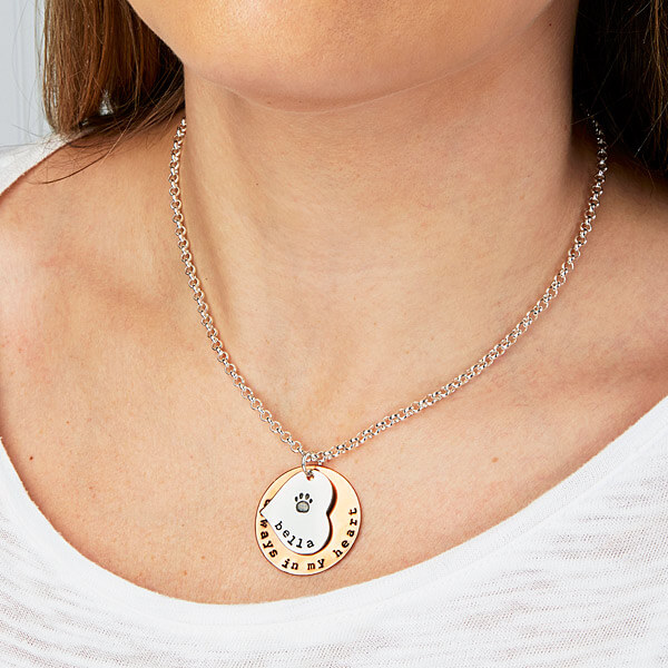 Always In My Heart Personalized Pet Pendant Necklace