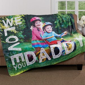 Father's Day Photo Blanket
