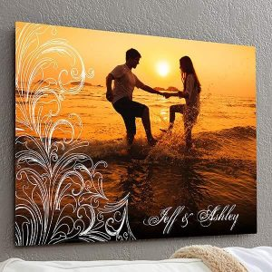 Personalized Photo Flourish ChromaLuxe Metal Panel
