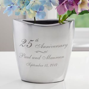 Everlasting Love Personalized Anniversary Vase