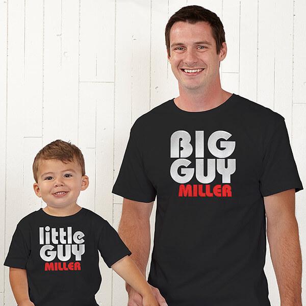 Big Guy & Little Guy Custom T-Shirts