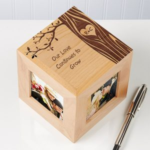 Carved In Love Personalized Photo Cube