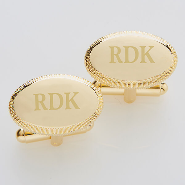 Elite Collection Gold Engraved Cuff Links