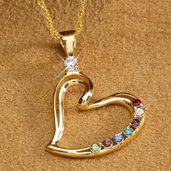 Heart Birthstone Necklace