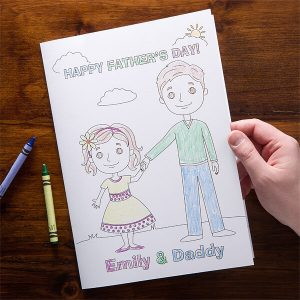 addy and Me Oversized Coloring Greeting Card