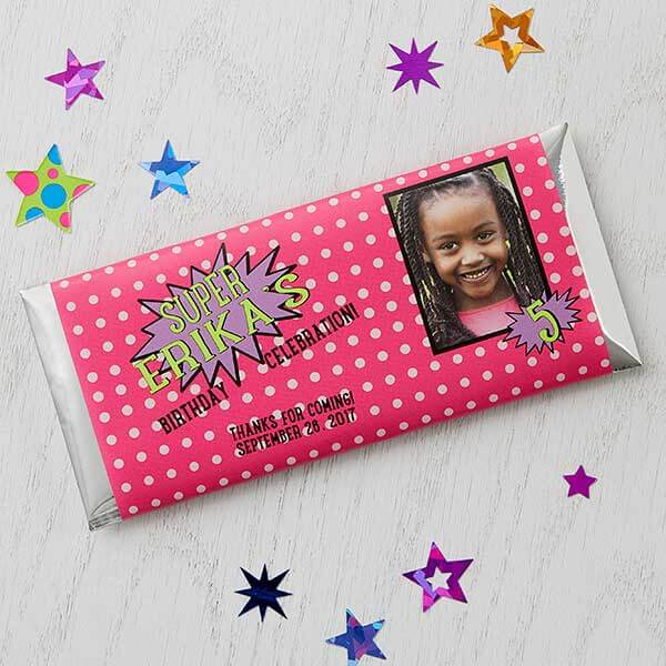 Super Hero Personalized Candy Bar Wrappers