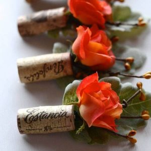 Wine Cork Wedding Ideas - Boutonniere