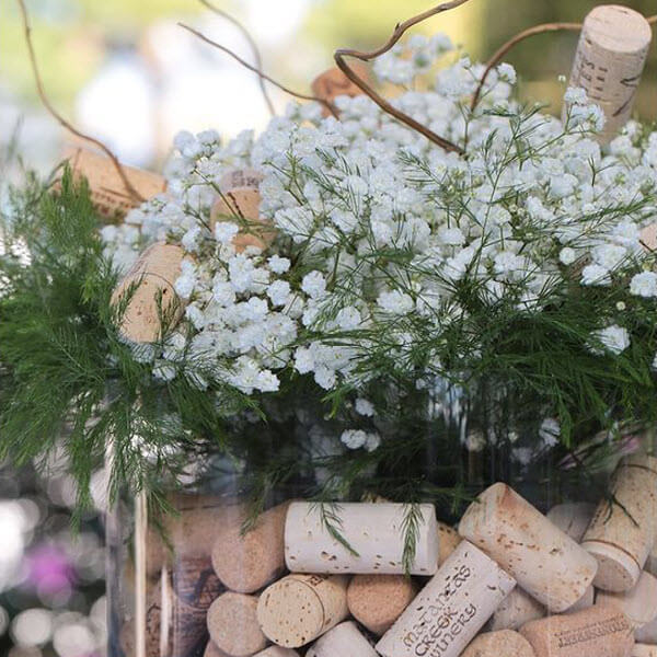Wine Cork Wedding Ideas - Centerpieces