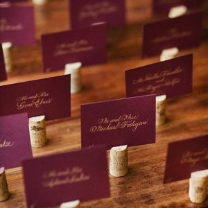 Wine Cork Wedding Ideas - DIY Place Cards