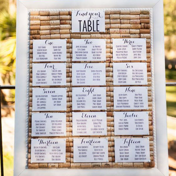 Wine Cork Wedding Ideas - Place Cards