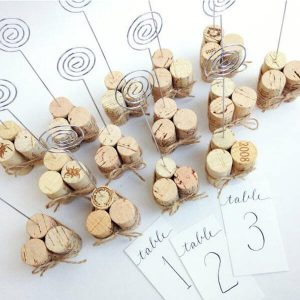 Wine Cork Wedding Ideas - Table Numbers