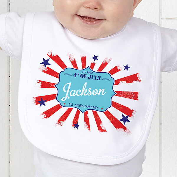 4th of July Gifts - Baby Bib