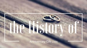 History of Anniversary Gift Lists