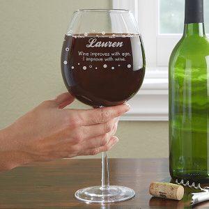 Whole Bottle Personalized Wine Glass