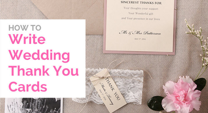 "how to write thank you cards for wedding If the person gave you a silver picture frame, don't simply thank them for it, but add, ""i plan on using the frame for a wedding picture in my living room"" even if it's late, send a note don't feel embarrassed."