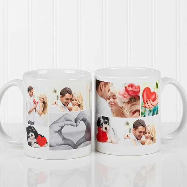 Photo Collage Romantic Coffee Mug