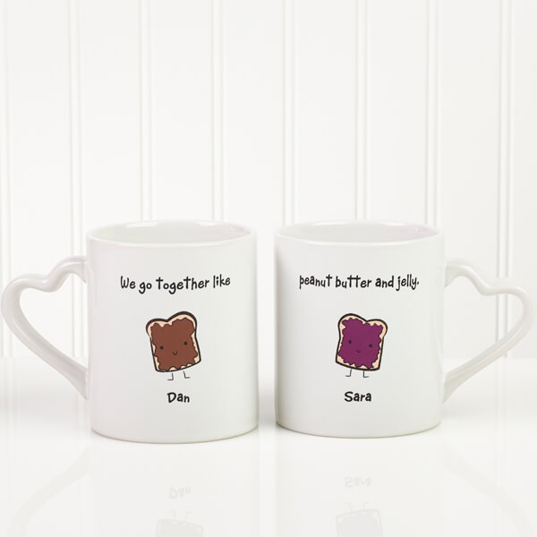 We Go Together Like... Boyfriend Mug Set