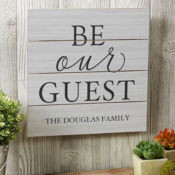 Real Estate Closing Gifts - Be Our Guest Shiplap Wall Decor