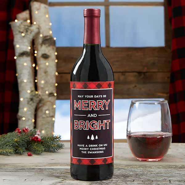 Real Estate Closing Gifts - Christmas Wine Label