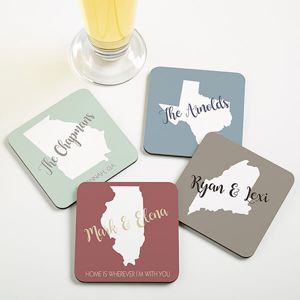 Real Estate Closing Gifts - Personalized Drink Coasters