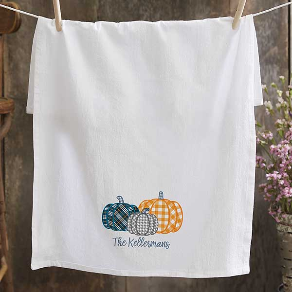 Fall Farmhouse Plaid Flour Sack Towels